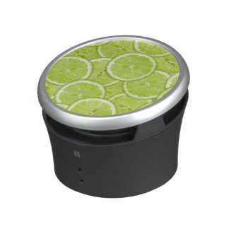Pattern Of Green Lime Slices Bluetooth Speaker