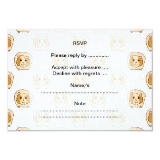 Pattern of Guinea Pigs. Card