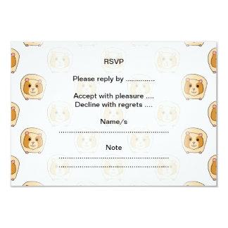 "Pattern of Guinea Pigs. 3.5"" X 5"" Invitation Card"