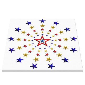Pattern of Patriotic Stars Canvas Print