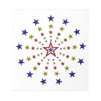 Pattern of Patriotic Stars Notepads