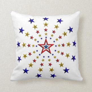 Pattern of Patriotic Stars Pillows