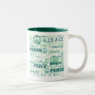 Pattern of Peace Two-Tone Mug