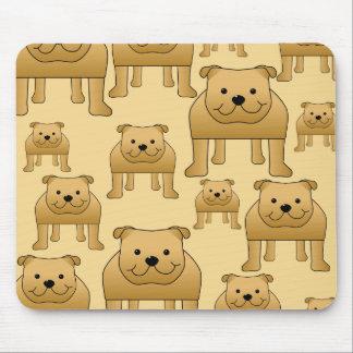 Pattern of Red English Bulldogs Mousepad