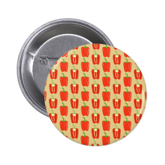 Pattern of Red Peppers Pinback Button