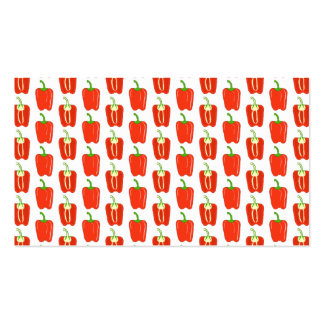 Pattern of Red Peppers. Business Cards