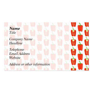 Pattern of Red Peppers. Business Card Templates