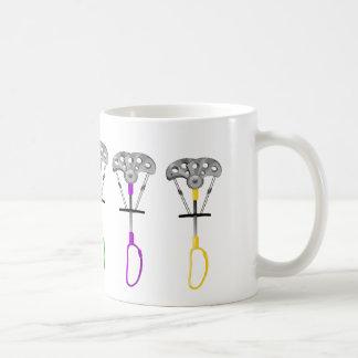 Pattern of rock climbing cams coffee mug