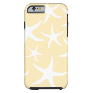 Pattern of Starfish in White and Yellow. Tough iPhone 6 Case