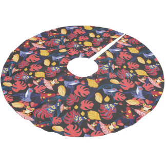 Pattern Of The Lovers Frogs Brushed Polyester Tree Skirt