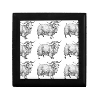 pattern of the old ram gift box