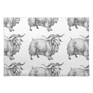 pattern of the old ram placemat
