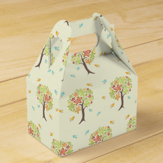 Pattern of trees and birds favour box