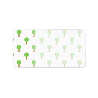Pattern of Trees. Address Label