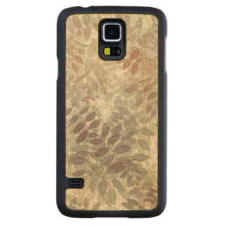 Pattern of Vetch Leaves | San Juan Islands, WA Carved Maple Galaxy S5 Case