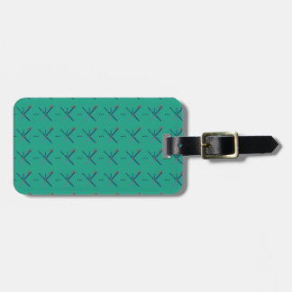 Pattern Portland Airport carpet Luggage Tag