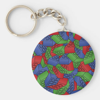 Pattern - Primary Colors Building Blocks Key Chain