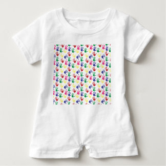 Pattern printed hands baby unisex suit baby bodysuit