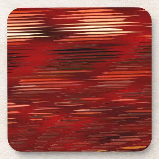 pattern red 1 created by Christine Bässler Coaster