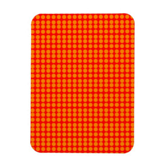 Pattern Red Background with Orange Circles Rectangle Magnet