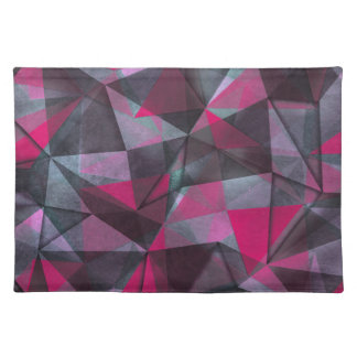 pattern red black placemat