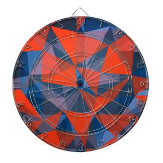 pattern red blue dartboard
