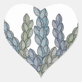 Pattern S Heart Sticker