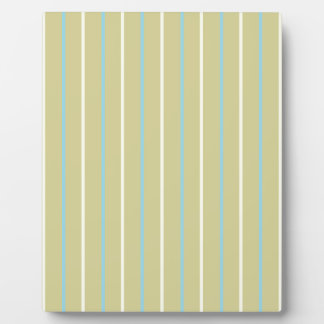Pattern sand color with stripe blue yellow display plaque