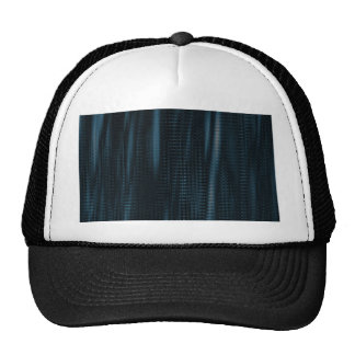 pattern serie waves 1 blue trucker hat