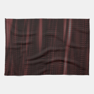 pattern serie waves 1 red hand towel