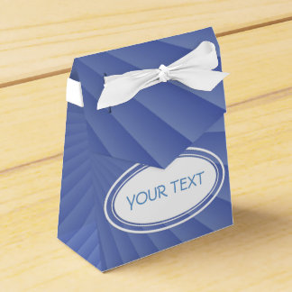 Pattern - soft light blue rays + your text favour box