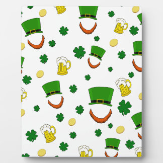 Pattern - St. Patrick's day Photo Plaque