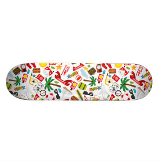 Pattern Summer holiday travel south sea 18.1 Cm Old School Skateboard Deck