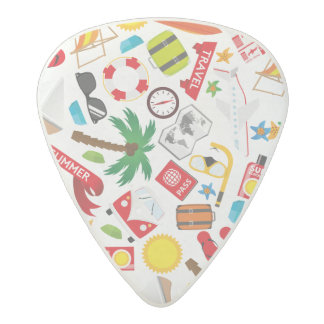 Pattern Summer holiday travel south sea Acetal Guitar Pick