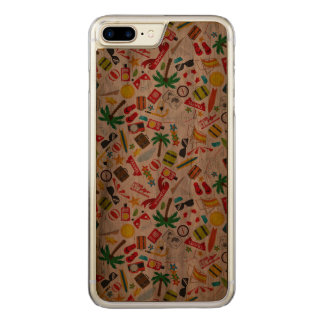 Pattern Summer holiday travel south sea Carved iPhone 8 Plus/7 Plus Case