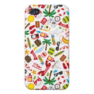 Pattern Summer holiday travel south sea Case For iPhone 4