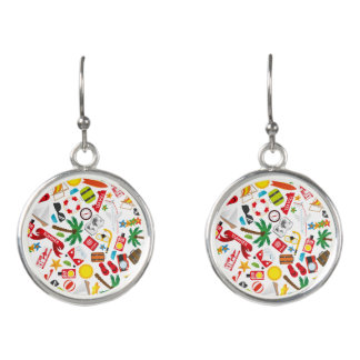 Pattern Summer holiday travel south sea Earrings