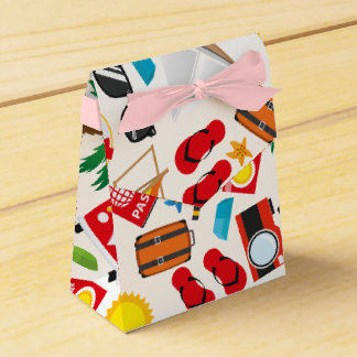 Pattern Summer holiday travel south sea Favour Box