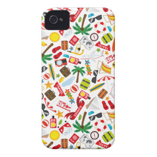 Pattern Summer holiday travel south sea iPhone 4 Cover