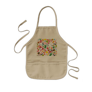 Pattern Summer holiday travel south sea Kids Apron