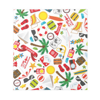 Pattern Summer holiday travel south sea Notepad