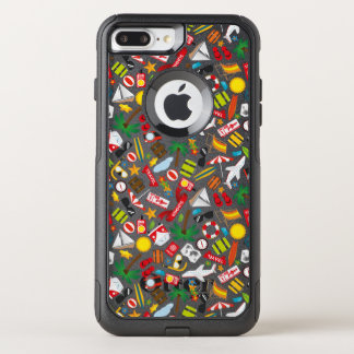 Pattern Summer holiday travel south sea OtterBox Commuter iPhone 8 Plus/7 Plus Case