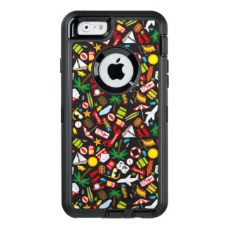 Pattern Summer holiday travel south sea OtterBox Defender iPhone Case
