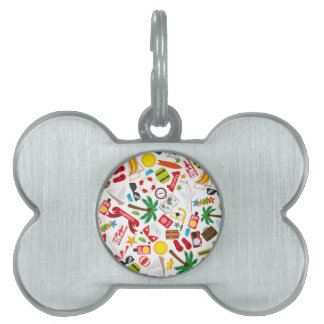 Pattern Summer holiday travel south sea Pet Tag
