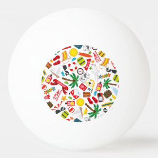 Pattern Summer holiday travel south sea Ping Pong Ball