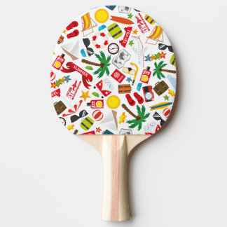 Pattern Summer holiday travel south sea Ping Pong Paddle