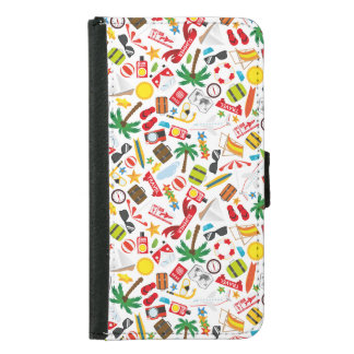 Pattern Summer holiday travel south sea Samsung Galaxy S5 Wallet Case