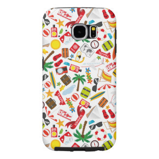 Pattern Summer holiday travel south sea Samsung Galaxy S6 Cases