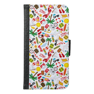 Pattern Summer holiday travel south sea Samsung Galaxy S6 Wallet Case