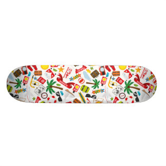 Pattern Summer holiday travel south sea Skate Deck